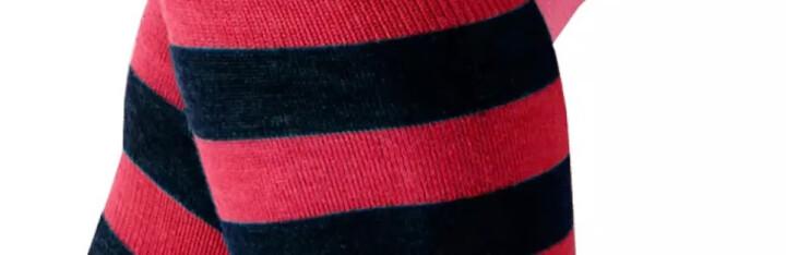 暖恋官方旗舰店拉毛护膝 间条保暖护膝 WA-66 红蓝条纹 M-L 晒单图