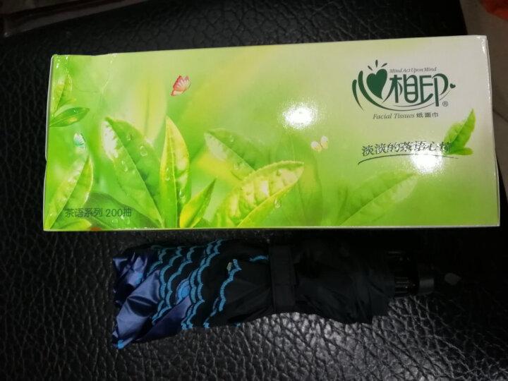 上海故事碳纤维超轻遮阳伞小巧铅笔伞夏季女防紫外线黑胶太阳伞韩版户外折叠晴雨伞 海军米 晒单图