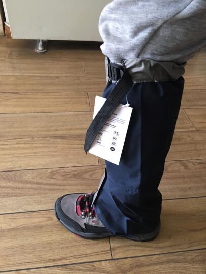 Tuban 防沙鞋套户外登山防雪雪套徒步沙漠护腿套男女款儿童滑雪防水脚套 升级款-蓝色L 晒单图