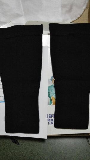 【买1送1】舒而适防静脉曲张袜医用女男士弹力袜子二三级压力袜护小腿袜套 美腿袜护士弹力袜 二级黑色(小腿) M (小腿肚31-34cm) 晒单图