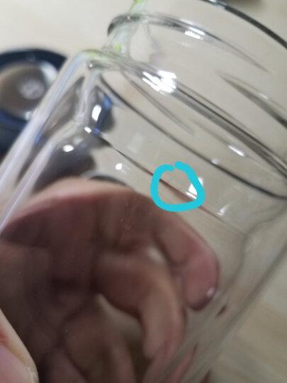 然也(RAE)400ml加厚带茶隔防漏双层高硼硅耐热玻璃杯 男女水杯茶杯 大容量过滤 泡茶情侣水晶杯子 蓝色R9351 晒单图
