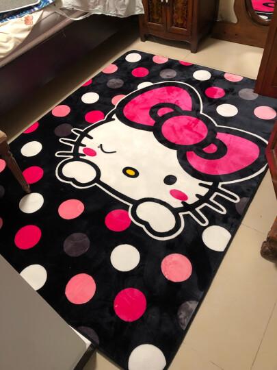 艾蔚 卡通地毯 海绵防滑垫子儿童秋冬爬爬垫瑜珈垫游戏垫卧室客厅床边长方形垫子 格子款 195x190CM 晒单图