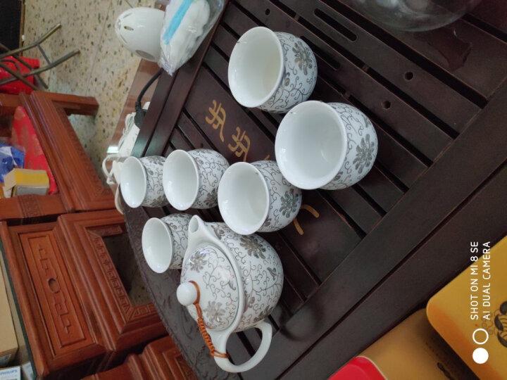 陶沁泉 景德镇7头陶瓷茶具套装 茶壶隔热茶杯茶漏过滤 凉水壶 整套功夫茶具 整套茶具 7头墨彩荷花 晒单图