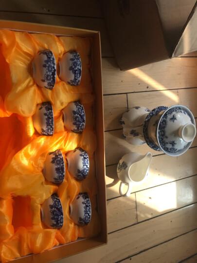 唐丰 整套茶具自动轻薄玲珑青花镂空功夫茶具陶瓷自动茶具套装茶壶茶海茶杯TF-1956 青瓷鲤鱼茶具 晒单图
