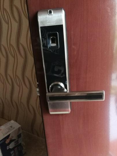 第吉尔(KEYLOCK)【免费上门安装】指纹锁家用防盗电子门锁APP微信智能密码指纹感应门锁313 不锈钢天地不带微信 晒单图