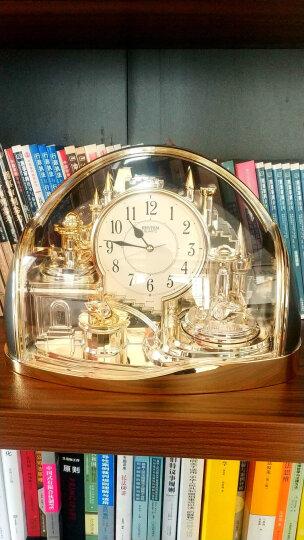 原装进口 丽声(RHYTHM)座钟美式钟表欧式古典客厅静音时钟旋转复古拉扣装饰座钟创意台钟水晶摆件 20cm闹钟摆锤 4se504wr18 晒单图