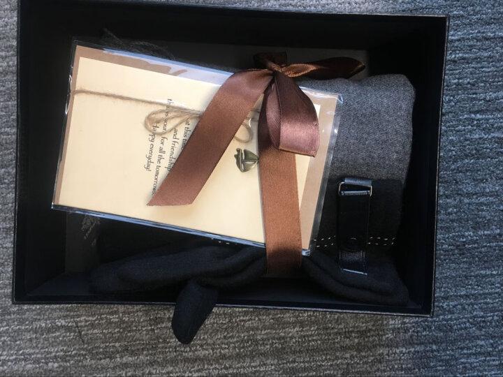 圣诞节礼物送男友男朋友送老公爱人浪漫结婚纪念日送爸爸高档实用生日礼物围巾手套两件套礼盒男生男士 蓝色围巾+黑色手套礼盒礼袋 晒单图