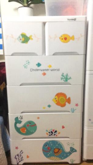 也雅抽屉式收纳柜 儿童衣柜宝宝整理柜婴儿衣服收纳储物柜玩具收纳箱塑料柜子五斗柜置物柜 大鱼萌萌5层【4大抽+2小抽】宝宝喜欢 妈妈必备 抽屉式系列【爆款】 晒单图