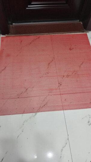 迪茵塑料地垫水池游泳池防滑门垫镂空防水塑胶网格垫子厨房卫生间浴室脚踏垫走廊楼梯防滑垫子 红红色普通款厚3.5毫米 0.9米宽*1米价格 晒单图
