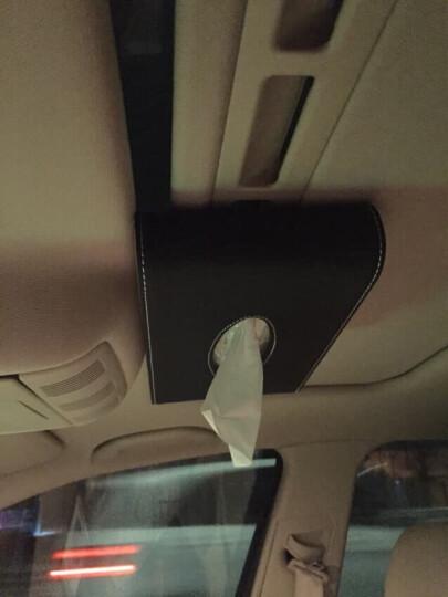 华饰 车载纸巾盒 天窗遮阳板纸巾盒创意座挂式车用纸巾盒 汽车用品 车用纸巾盒挂式款黑白撞色 晒单图