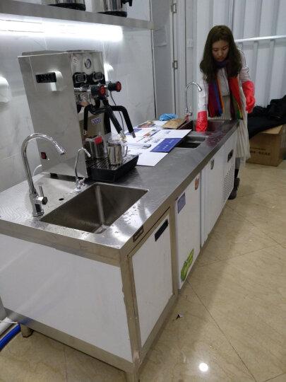 乐创(lecon) 操作台冰柜冷柜水吧台奶茶店工作台不锈钢酒吧商用设备定做厨房冷藏冷冻 2米 晒单图