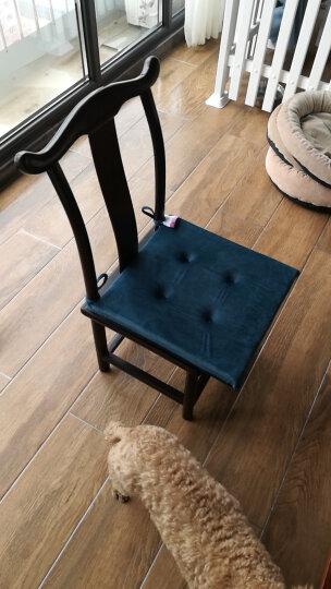 迎馨 家居榻榻米海绵坐垫 办公室软坐垫沙发垫 宝蓝 40*40cm 晒单图