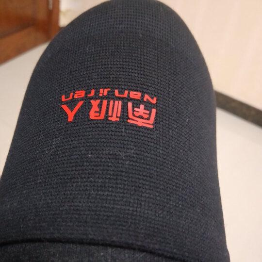 南极人护膝运动保暖老寒腿健身篮球装备薄款女士跑步膝盖护具男护腿四季防寒半月板夏季黑红竹炭M 晒单图
