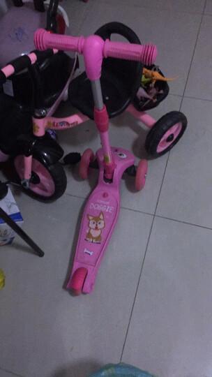 美洲狮(COUGAR)儿童滑板车 一秒折叠3挡升降全轮闪光小孩扭扭踏板车 全闪粉色 晒单图
