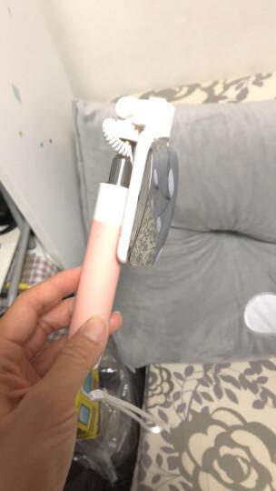 洛克(ROCK)苹果自拍杆/自拍神器 Lightning线控/迷你大镜面拍照器 适用于iPhoneXsMax/XR/8/6s手机 粉色 晒单图