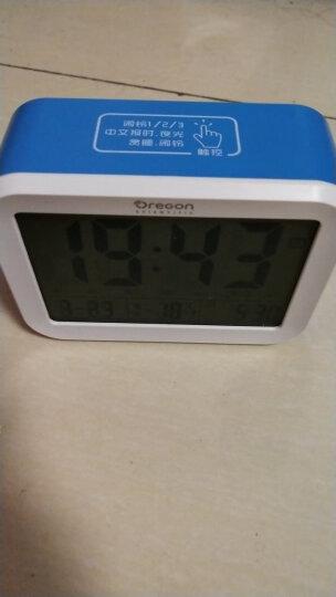 欧西亚闹钟 夜光静音智能床头钟语音报时学生儿童电子闹钟 充电款蓝色 晒单图