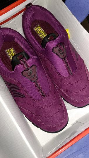 卡地玛丽老人鞋防滑软底中老年健步鞋套脚防滑爸爸妈妈鞋运动休闲男女鞋 M28 枣红/女款 40 晒单图
