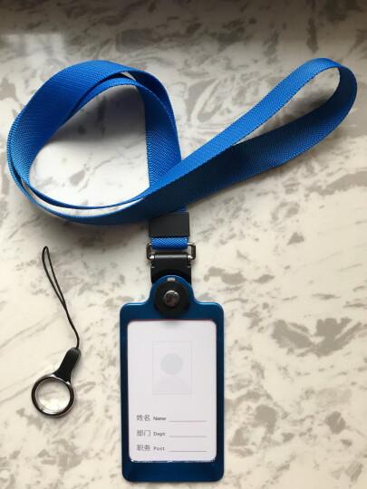 聚物酷 金属工作牌工作证卡套 多功能手机挂绳铝合金挂牌员工牌胸牌证件卡套定制 X01宝石蓝 晒单图