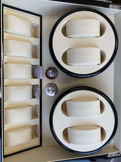 KONSINI摇表器机械表手表自动上弦器家用自动手表盒转表器马达盒摇摆晃表器收藏保养电动旋转节日礼物 4+6表位-巴西花梨木哑光漆+咖啡绒布+6静止表位 晒单图