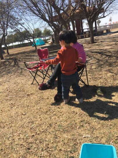 红色营地 折叠椅 钓鱼椅子 沙滩休闲椅 简约靠背椅 户外扶手椅子 Y100丈青 晒单图