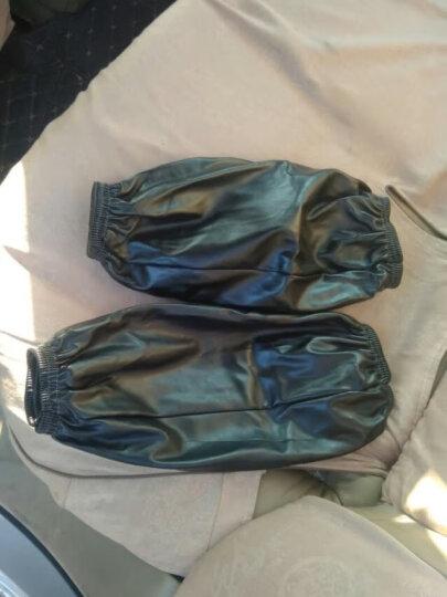 皮革袖套防水防油套袖男女长款厨房家务清洁护袖头加大厚手袖 16黑色 晒单图