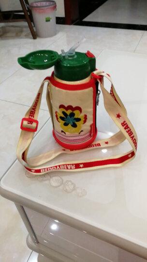 杯具熊(BEDDYBEAR)儿童保温杯带吸管儿童水杯316不锈钢保温儿童水壶630ML 3D浮雕-可爱小鸡 晒单图