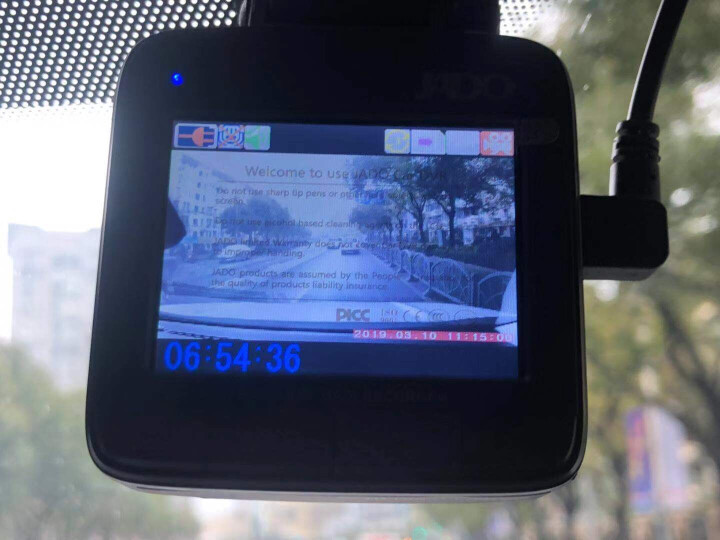 捷渡新款D720S行车记录仪高清1080P车载记录仪捷度行车记录仪 黑色 D720S标配 晒单图