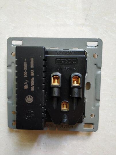 德力西开关插座 86型无边框开关墙壁电源插座带荧光拉丝珠光白 二开单控 晒单图