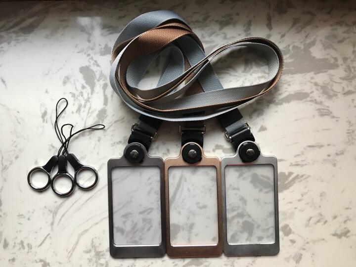 聚物酷 金属工作牌工作证卡套 多功能手机挂绳铝合金挂牌员工牌胸牌证件卡套定制 X01金牌 晒单图
