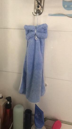 三利 珊瑚绒蝴蝶结挂式擦手巾 加厚不掉毛强吸水 浴室厨房居家多用途抹手毛巾 30×44cm 桃粉色 晒单图