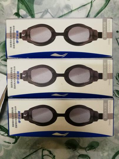 李宁(LI-NING) 泳镜 男女同款高清防雾游泳镜 成人V儿童舒适贴合大框防水游泳眼镜 508黑近视250度 晒单图
