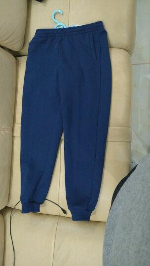 鸿星尔克(ERKE)童装男童裤儿童运动裤子针织休闲裤弹性舒适童裤透气舒适运动裤 正黑-加绒 140 晒单图