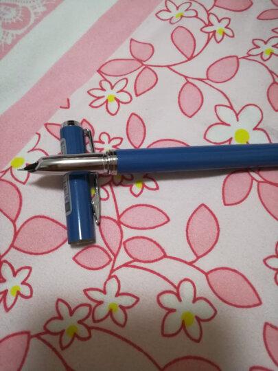 爱好(AIHAO)钢笔男女练字抽墨式签字清新学生钢笔X33 蓝色 晒单图