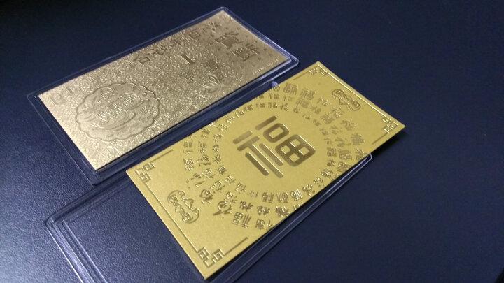 周大福 百年好合 足金黄金金条/金钞(工费:118计价) F207413 金(Au)999.9 约1.00g 晒单图