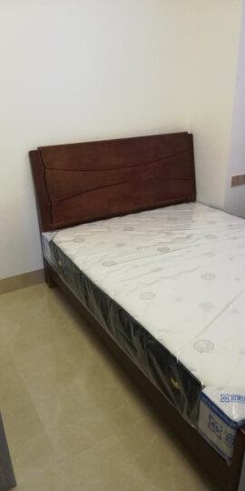 丽巢 床 实木床现代中式双人床橡胶木床981 高箱床+床头柜*1+床垫+四门衣柜+梳妆台 1.8*2米 晒单图