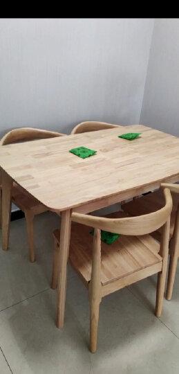 丽巢 北欧实木餐桌1.3m现代简约小户型餐桌椅组合原木日式长方形餐桌 TY130 原木色 单桌 晒单图