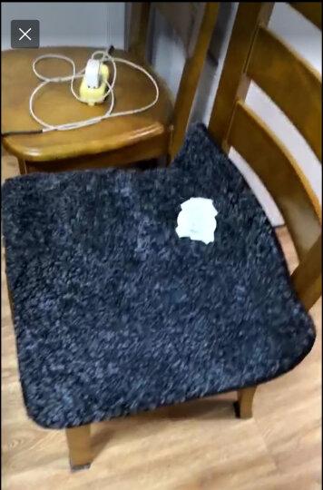 AUSKIN澳世家椅垫坐垫卷花羊毛简约现代 巴斯椅垫-炭灰色TK 60x60cm 晒单图