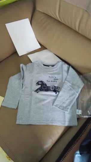 南极人(Nanjiren) 南极人男童长袖T恤外出服上衣秋冬季新款圆领打底衫外出服T恤 多色字母-黑色 110CM 晒单图