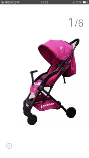 福贝贝(For Baby) 婴儿推车超轻便可坐可躺铝合金儿童伞车折叠便携婴儿车儿童推车可上飞机 优雅黑 晒单图