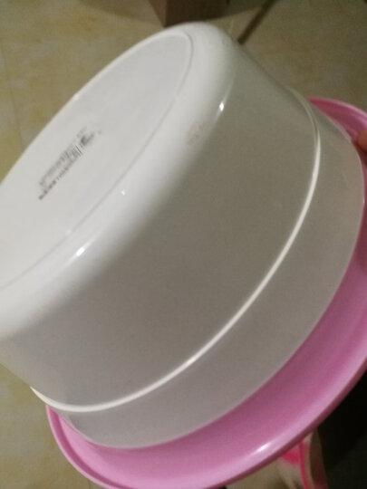 龙士达 LONGSTAR 加厚塑料洗脸盆洗衣洗脚盆 30CM耐用家用浴室水盆 ls-0025 红色小号 晒单图