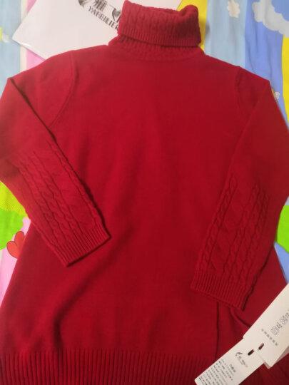 雅飞丽尔100%纯羊毛衫女加厚高领女士毛衣女秋冬大码女装8575 紫色长款 L(100-120斤) 晒单图