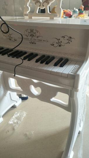 贝芬乐(Buddy fun) 儿童电子琴玩具女孩儿童小钢琴初学者音乐早教乐器带麦克风生日礼物 象牙白 晒单图