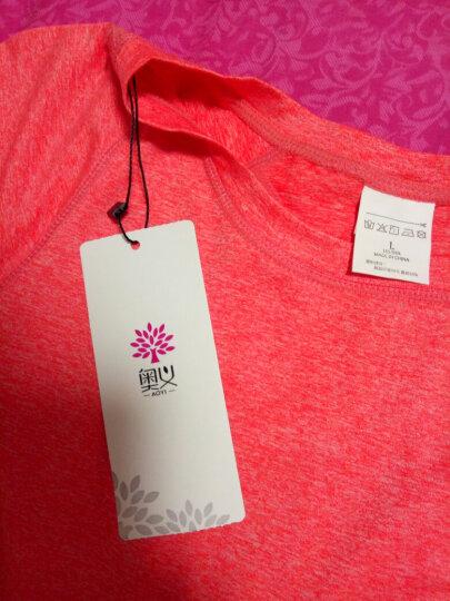 奥义瑜伽服套装 女款跑步健身服 修身显瘦短袖运动套装 气质红L 晒单图
