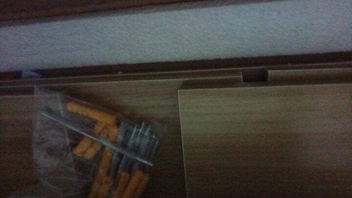 火月亮 搁板 墙壁隔板墙上置物架现代简约创意客厅卧室装饰墙面壁挂书架 浅胡桃三件套【两种安装】 晒单图