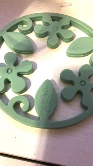 FaSoLa餐桌垫锅垫隔热垫创意硅胶厨房碗垫盘垫家居杯垫 橄榄绿 晒单图