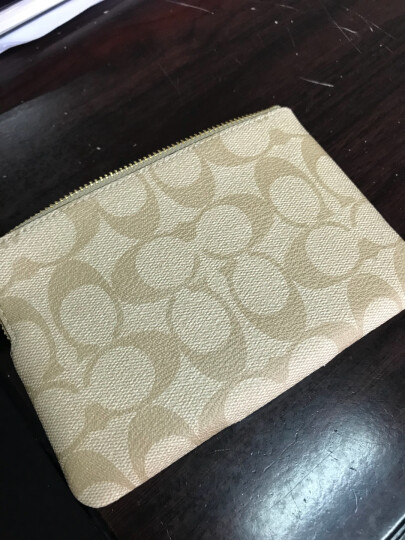 COACH 蔻驰 奢侈品 女士深棕色配黑PVC零钱包 F58035 IMAA8 晒单图