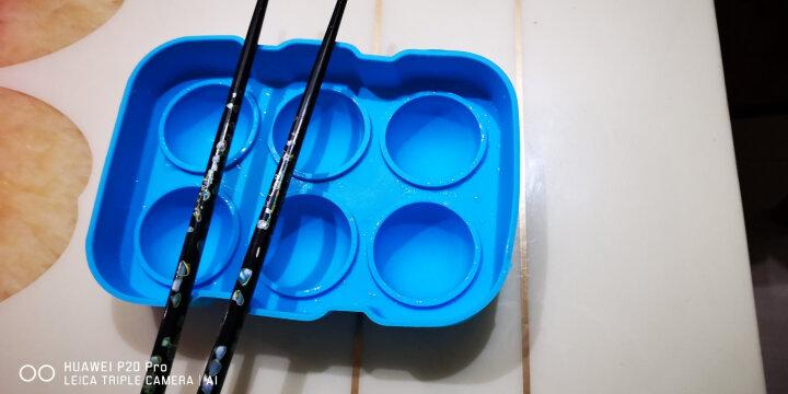 德立(DOLO) 硅胶塑料 水信玄饼模具 樱花白凉粉果冻模 DIY制冰球 圆球形冰格块模 蓝色4孔冰球模+小漏斗 晒单图