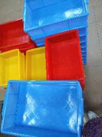 铭丰腾龙加厚超低价塑料零件盒 周转盒 物料盒 螺丝盒 塑料盒工具箱塑胶盒 平口箱 05#单边平口箱383*246*100MM 蓝色 晒单图