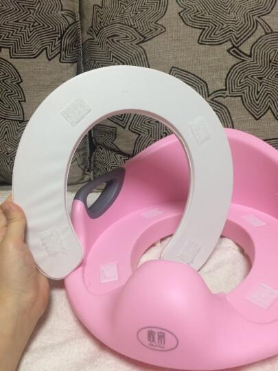 欧育 坐便器儿童马桶圈男女宝宝马桶垫婴儿坐便圈 便盆尿盆小孩马桶 粉色 晒单图