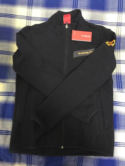Kappa卡帕 男款运动卫衣休闲长袖开衫外套|K0712WK15 黑色-990 L 晒单图